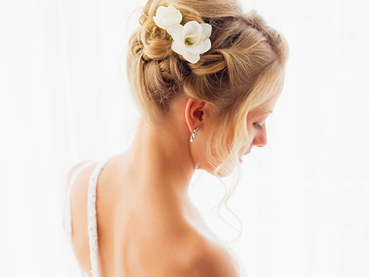 Woman hair style for wedding ceremony